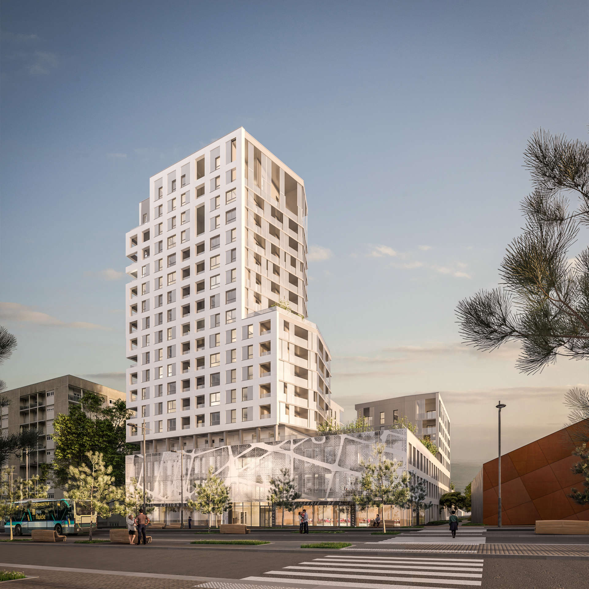 107 logements collectifs et siège social – Rennes (35)